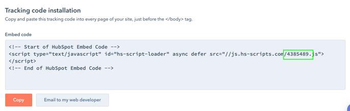 Adding HubSpot code 3