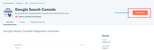 Connect Search Console step 4