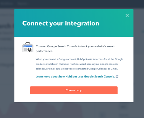 Connect Search Console step 5
