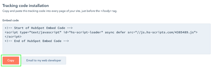Adding HubSpot code 2